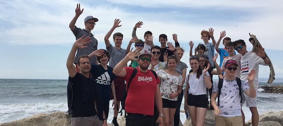 Das JGOH grüßt vom Strand in Marseille