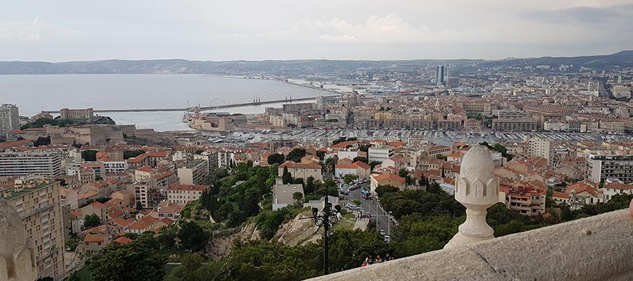 Ausblick auf den Jachthafen - Notre-Dame de la Garde