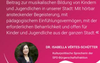 Grußwort Dr. Isabella Vértes-Schütter